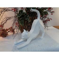 Statue origami grand chat