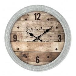 Horloge murale (fond façon...