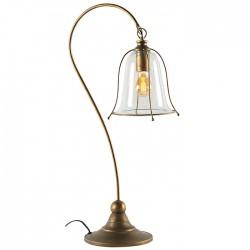Lampe métal cuivré à poser