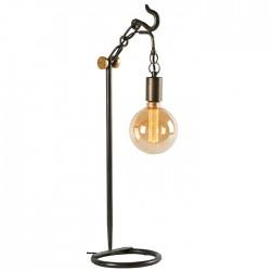 Lampe avec crochet métal