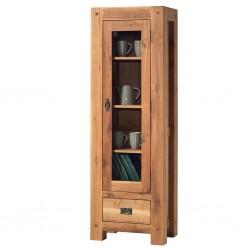 Meubles Patines et Objets, savoie Bassens 73, bibliothèque vitrine en bois chêne