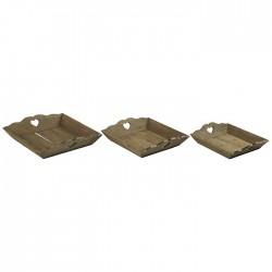 Set de 3 plateaux  en bois