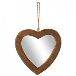 Miroir mural cœur