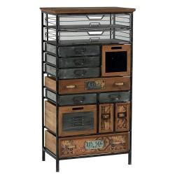 Meubles Patines et Objets, savoie Bassens 73, armoirette style industriel 13 tiroirs
