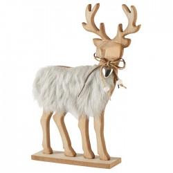 Caribou en bois , décoratif...