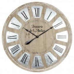 Grande horloge  en bois...