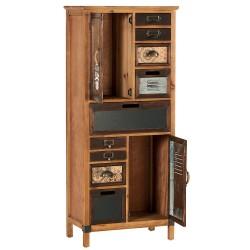Meubles Patines et Objets, savoie Bassens 73, armoirette industriel 8 tiroirs 2 portes de biais