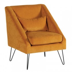 Fauteuil victoria  moutarde.