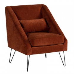 Fauteuil victoria rouge