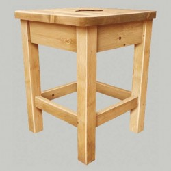 Tabouret pin massif assise...