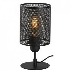 Lampe métal noir avec abat...