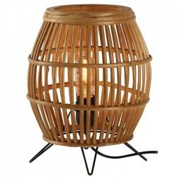 Lampe ovale en bois ajouré...