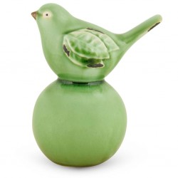 """Oiseau sur boule verte """"..."""