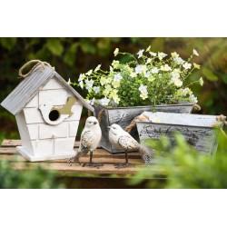 Maison d'oiseau bois ht 21 cm