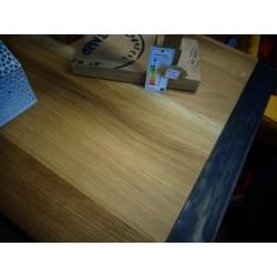 Bahut fer et bois chêne huilé 2 portes 3 tiroirs zoom sur dessus