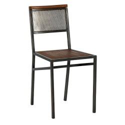 """Chaises """"teck et fer"""""""