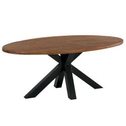 Table ovale 190 cm teck massif