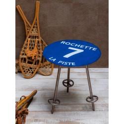 Table d'appoint piste bleue...