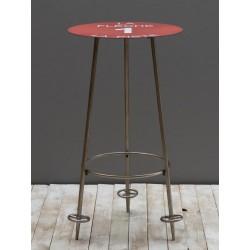 """Table haute piste rouge """"..."""