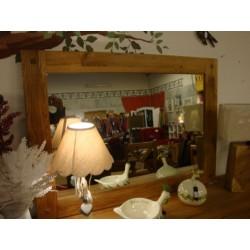 Meubles Patines et Objets, savoie Bassens 73, miroir bois chêne 150cm sur commode