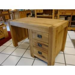 Meubles Patines et Objets Bassens Savoie 73 - bureau bois chêne 3 tiroirs vue côté