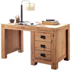 Meubles Patines et Objets Bassens Savoie 73 - bureau bois chêne 3 tiroirs