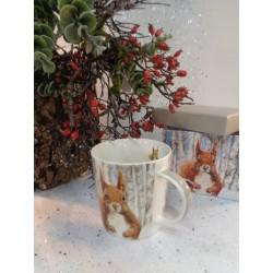 Meubles Patines et Objets, savoie Bassens 73, Mug tasse déco écureuil avec boîte cadeau autre vue