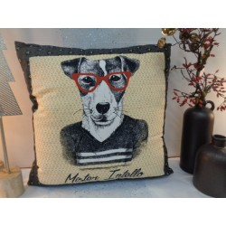 "Coussin "" Mister Intello"""